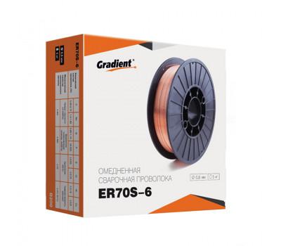 Проволока сварочная омедненная Gradient ER70S-6 d-0,8мм кас-5кг