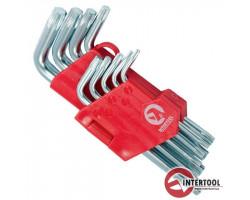 INTERTOOL Г-образных ключей TORX T10-T50 9шт