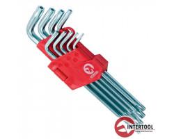 INTERTOOL Г-образные ключи TORX T10-T50 9шт