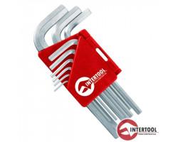 INTERTOOL Г-образные шестигранные ключи 1,5-10мм 9шт
