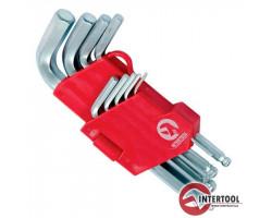 INTERTOOL Small Г-образные шестигранные ключи 1,5-10мм 9шт