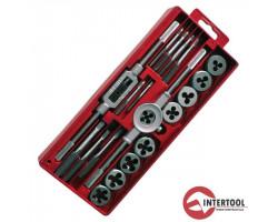 INTERTOOL плашки метчики (М6-М12, М3-М12) 20шт