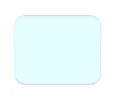 Стекло для сварочной маски 89х115 мм h-0,8 мм защитное, прозрачное, заокругленное, поликарбонатное
