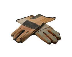 Перчатки ХБ + Кожа