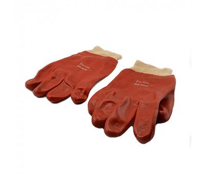 Перчатки МБС с трикотажным манжетом красные