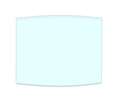Стекло для сварочной маски 90х110 мм h-1,0 мм защитное, прозрачное, поликарбонатное полуовальное