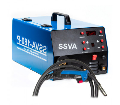 Сварочный полуавтомат SSVA-180-P V-220В с горелкой Binzel