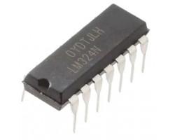 TI LM324N U-3~32В, 4-x канал, 1.4 мА, 1.2 МГц, DIP14 операционный усилитель