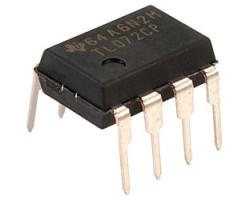 Texas Instruments TL072CP V-3,5-18В, 2-х канал, 4МГц, DIP8 операційний підсилювач