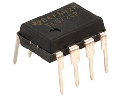 Texas Instruments TL072CP V-3,5-18В, 2-х канал, 4МГц, DIP8 операционный усилитель